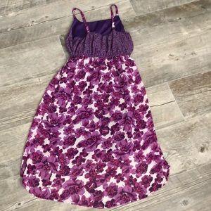 Children's Place Dresses - Asymmetrical Purple Floral Tank Dress XL 14